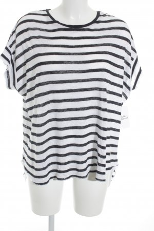 Soccx T-Shirt schwarz-weiß Streifenmuster schlichter Stil