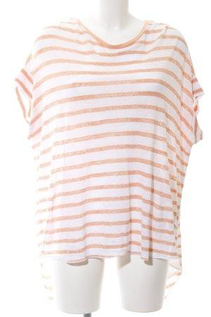 Soccx Boatneck Shirt light orange-white striped pattern casual look