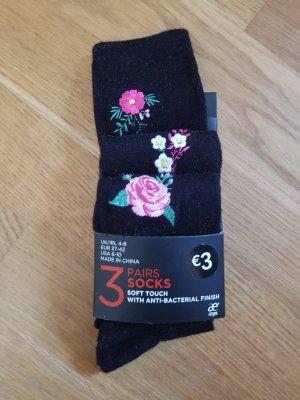 Socken Blume Neu 3 Stück