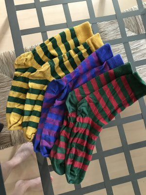 Socken im Dreierpack Geringelt Streifen Ringelsocken