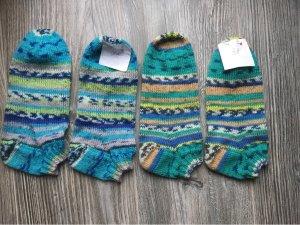Re Slipper Socks light blue wool