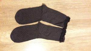 Socken Söckchen Strick Knit Ajour Spitze Lace
