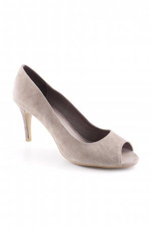 Sofie schnoor Peeptoe Pumps graubraun Business-Look
