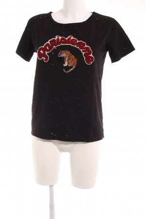 Sofie schnoor T-Shirt embroidered lettering casual look