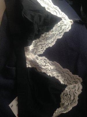 H&M Soutien-gorge noir-blanc cassé fibre synthétique