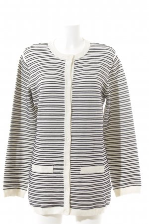 Soft Rebels Cardigan creme-dunkelblau Streifenmuster Business-Look
