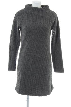 Soft Rebels Gebreide jurk grijs-donkergrijs gestippeld casual uitstraling