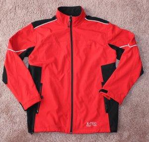 Softshell Jacket white-red
