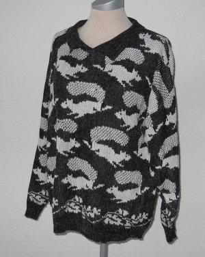 Soft Wear Pulli Pullover Eichhörnchen grau Gr. free S M L 36 38 40