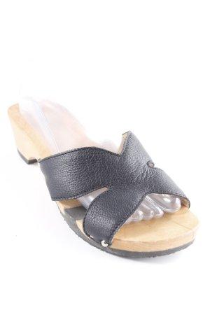 Softclox Sandalo con tacco nero-sabbia stile casual