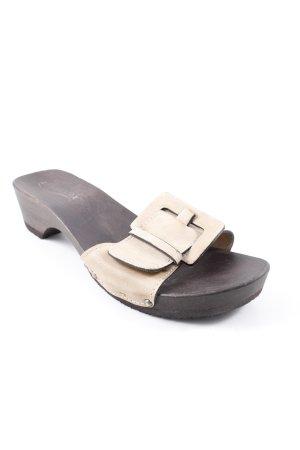 Softclox Clog Sandalen creme-schwarzbraun Casual-Look