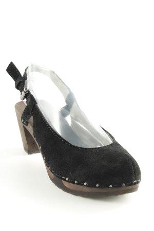 Softclox Clog Sandalen schwarz-braun Casual-Look