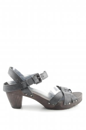 Softclox High Heel Sandal black-brown simple style
