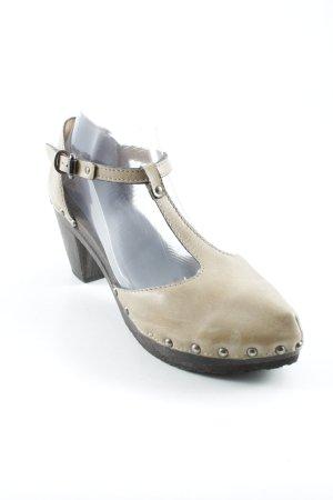 Softclox Strapped Sandals dark brown-sand brown street-fashion look