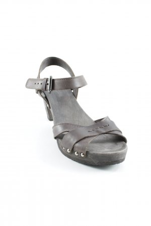 Softclox Strapped Sandals dark brown street-fashion look