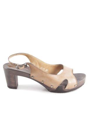 Softclox Riemchen-Sandaletten braun-nude Casual-Look