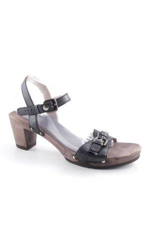 Softclox Riemchen-Sandaletten schwarz Casual-Look