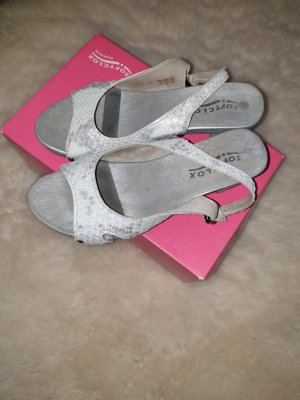 Softclox Sandalo comodo argento-grigio chiaro Pelle
