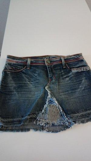 Denim Skirt dark blue cotton