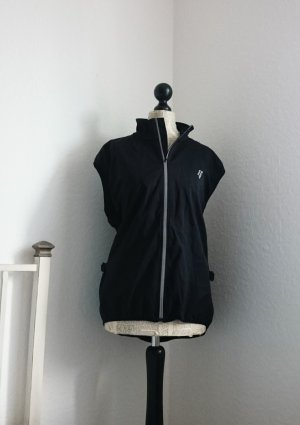 Softshell Jacket black-silver-colored synthetic fibre
