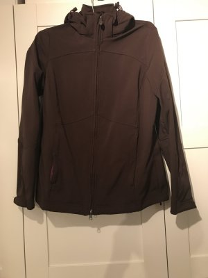 Tchibo / TCM Chaqueta para exteriores marrón oscuro-púrpura