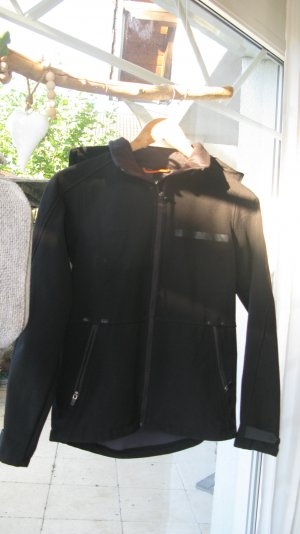 Softshell Jacke H&M Größe 34 schwarz mit Kapuze