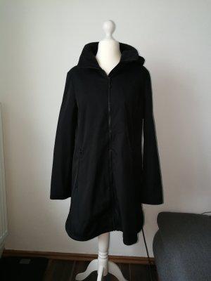 Softshell Mantel schwarz mit Kapuze Gr. 42
