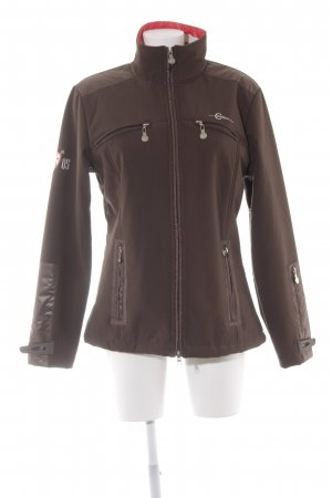 Veste softshell brun foncé style simple