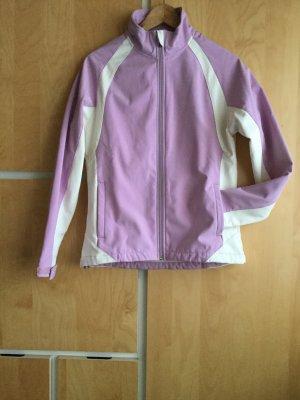 Veste softshell violet-blanc cassé