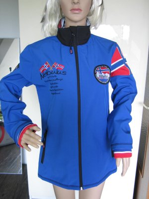 Softshell Jacket cornflower blue-red polyester