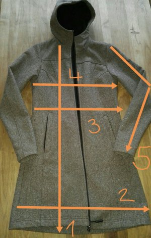 Softshelljacke/parka ELKLINE; tweed braun