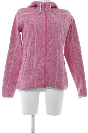 Softshelljack roze gestippeld casual uitstraling