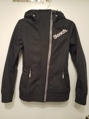 Bench Softshell Jacket white-black