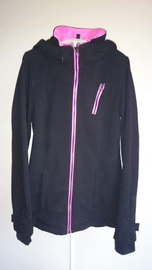 Blind Date Softshell Jacket black-pink