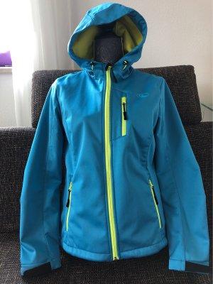 Crivit Softshell Jacket turquoise-neon yellow