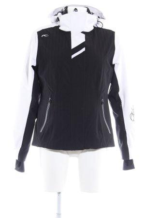 Softshell Jacket white-black casual look