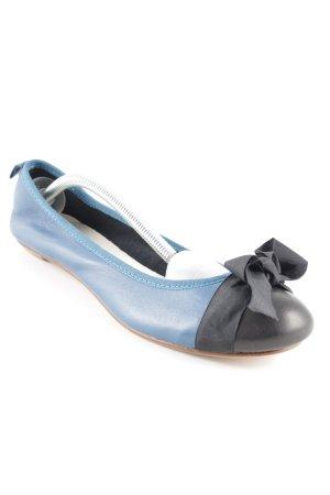 Soir de Lune Ballerinas mit Spitze blau Casual-Look