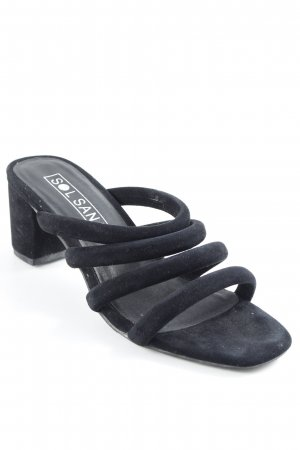 Sol Sana Riemchen-Sandaletten schwarz Street-Fashion-Look