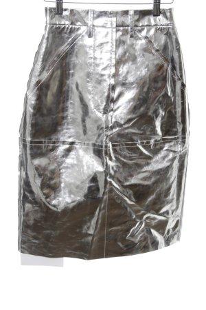 Solace London Jupe taille haute argenté style extravagant