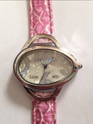 Sole Strass Uhr Oval