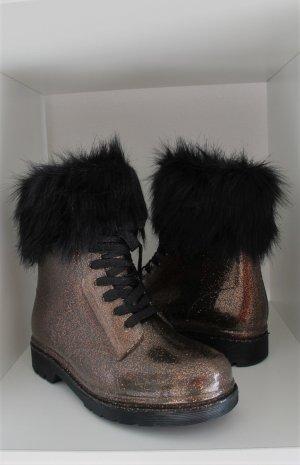 Wellington laarzen brons-zwart