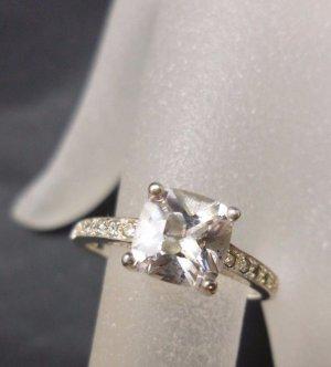 Solitär Bergkristall Sterling Silber 925 solitär Bergkristall Ring edelstein Vintage
