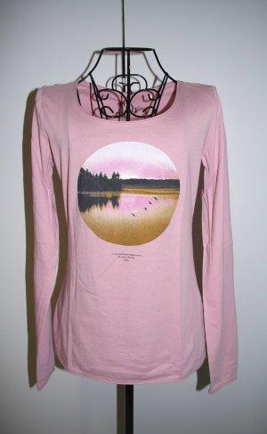 sOliver s.Oliver Langarm Shirt mit Print Gr. 34 rosé