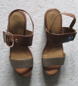 Soliver Sandaletten braun, Gr. 40, NEU