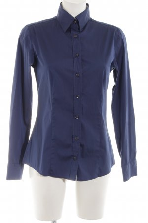 Soluzione Langarmhemd blau Business-Look