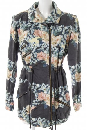 Some Days Lovin Parka floral pattern casual look