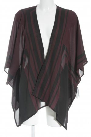 someday Cardigan schwarz-bordeauxrot abstraktes Muster Elegant