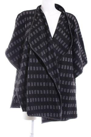 someday Cardigan schwarz-grau abstraktes Muster Casual-Look