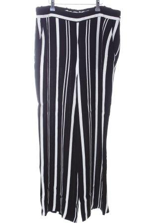 someday Culottes schwarz-weiß Streifenmuster Casual-Look