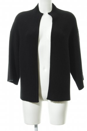 someday Coarse Knitted Jacket black casual look